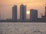 qatar-skyscrapers-and-setting-sun